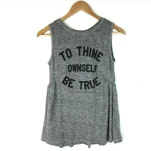 Forever 21 szS Tank Top Shakespeare Gray